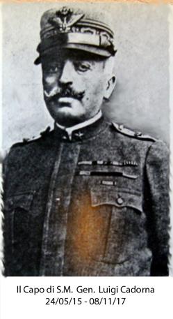 Il Capo di Stato Maggiore Generale Luigi Cadorna